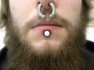 Skalpell  lip-piercing  8mm PTFE